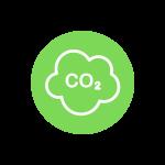 nuage de pollution sur fond vert